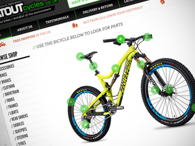 flat out cycles website project thumbnail