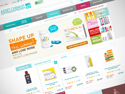 Asset chemists magento website