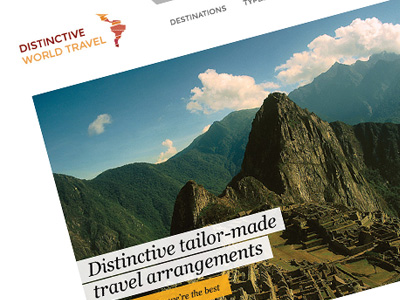 Distinctive travel agency site